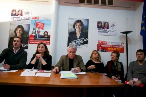 Avec Didier Lereste, Catherine Vieu-Charier, Nicolas Bonnet, Brigitte Velay-Bosc et Charly Janodet. Crédits Mathieu Delmestre