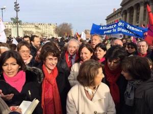 Manifestation pour le droit à l'IVG en Espagne et partout en Europe.