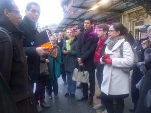 Avec les acteurs associatifs et institutionnels autour de la Gare de Lyon.