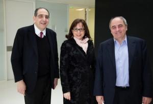 Avec le Professeur Sahel et Jean-Louis Missika. Crédits Pierre-Clément Julien