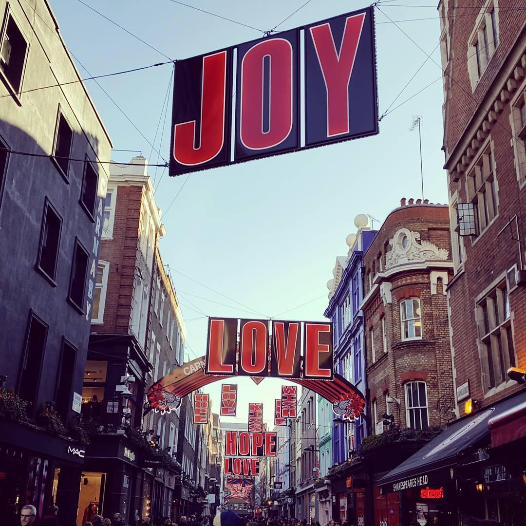 Joy love hope from London