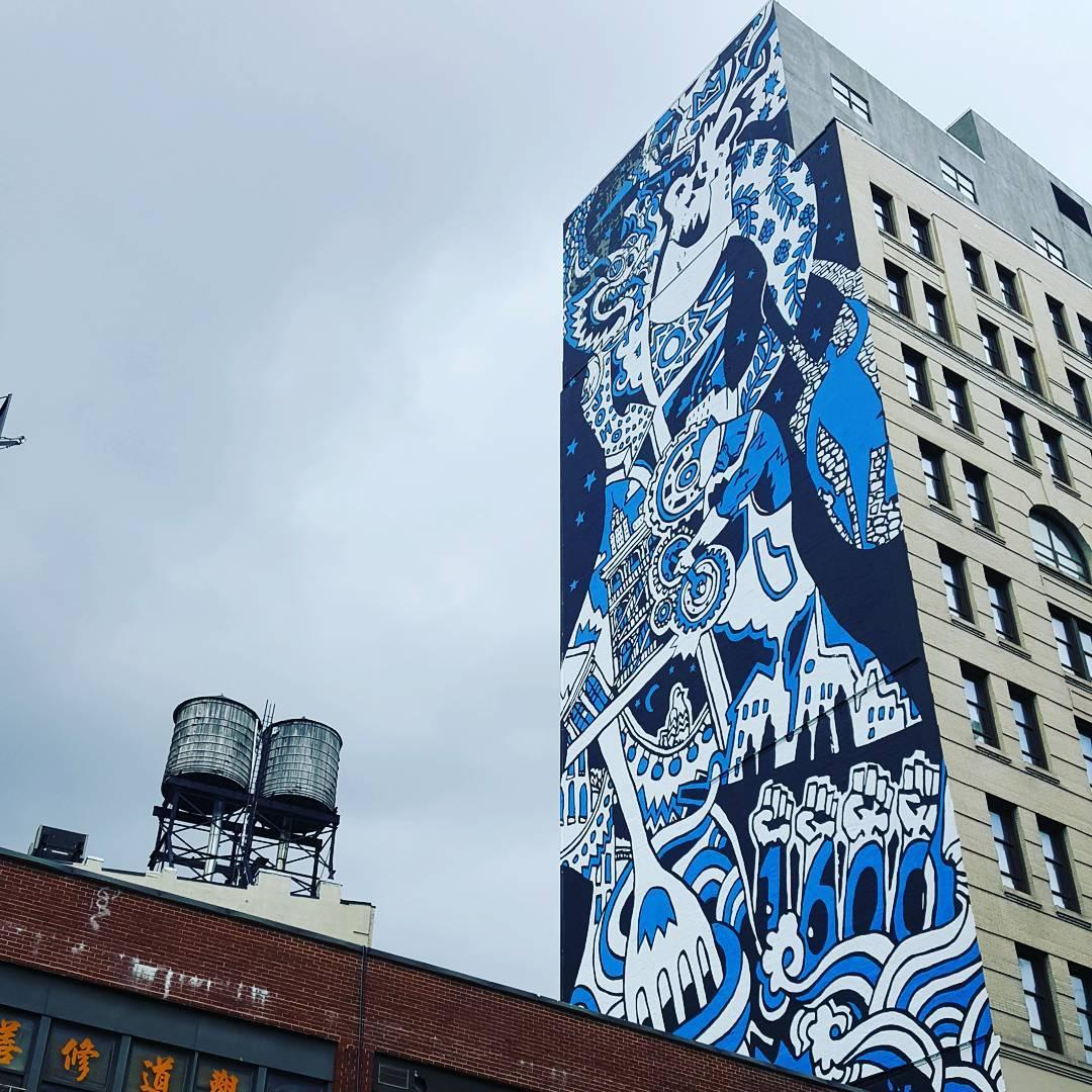 streetart in NY NewYork Manhattan