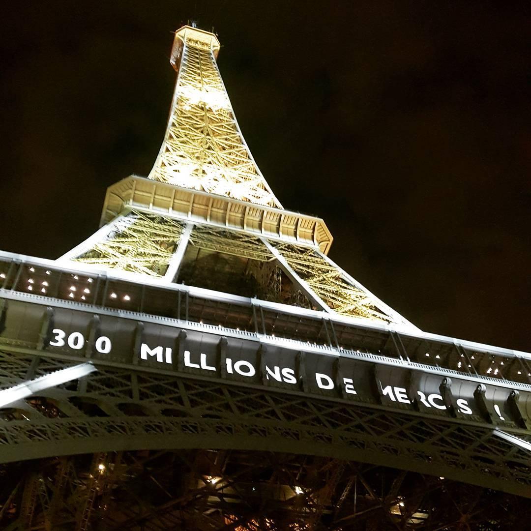 300 millions de mercis pour 300 millions de visiteurs ethellip