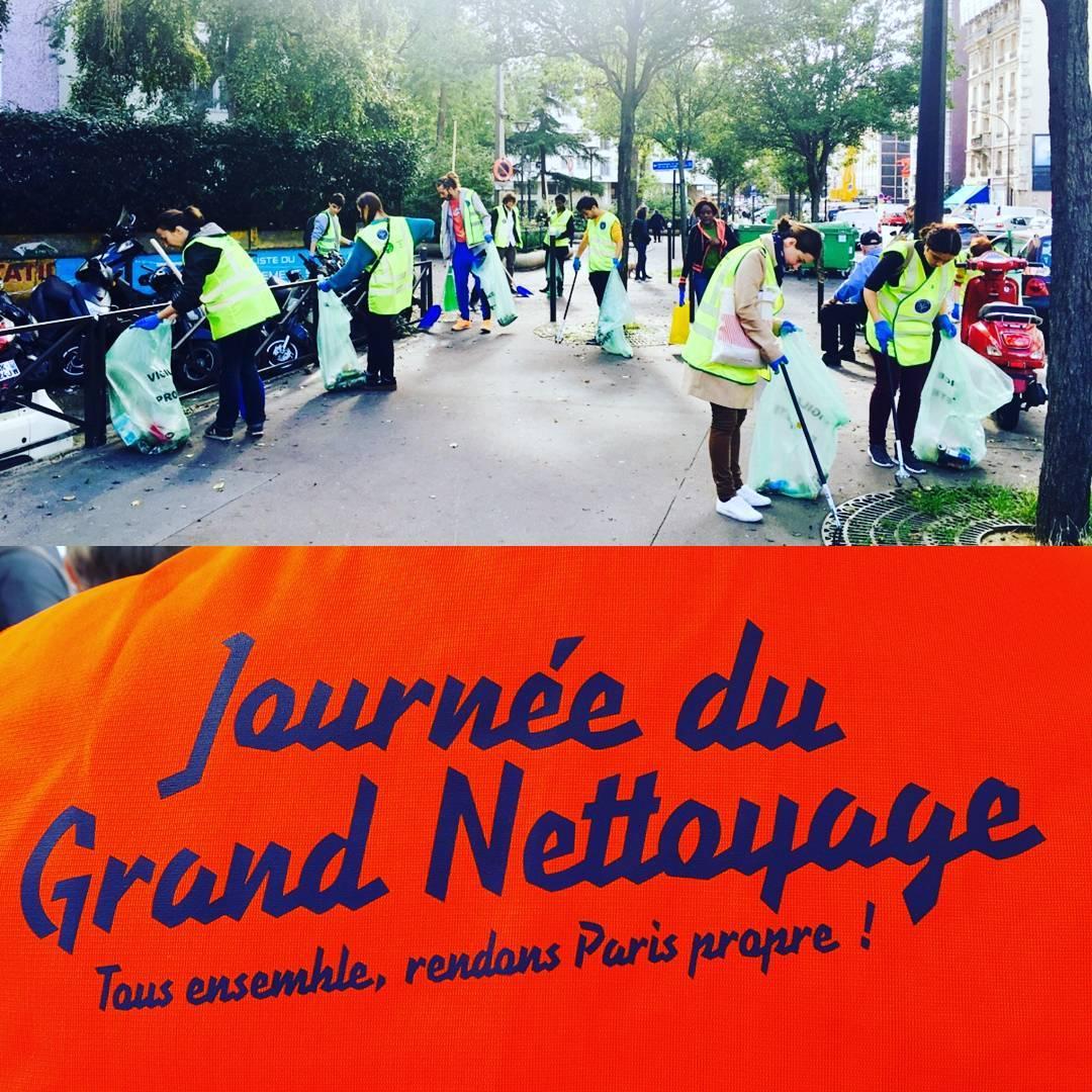 Merci aux volontaires de cette journe parisienne du grandnettoyage venushellip