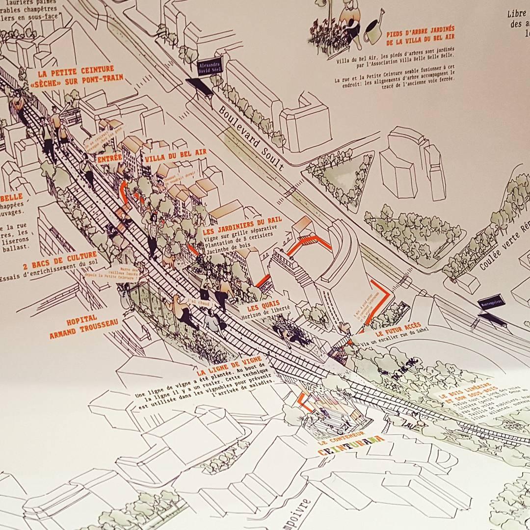 Carte sensible de la petite ceinture ferroviaire de Paris12 ethellip