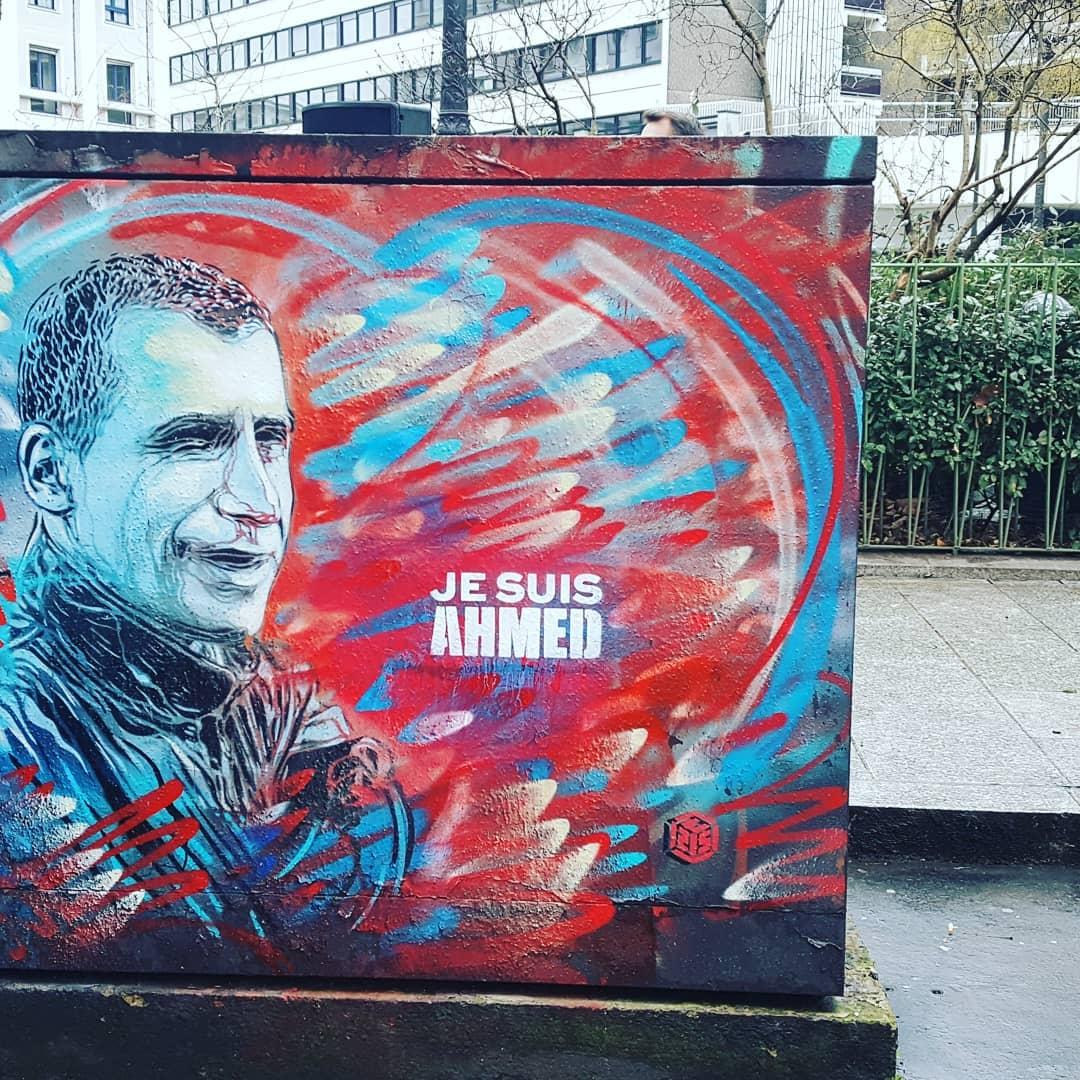 jesuisahmed policier abattu bd Richard Lenoir Paris Paris11 jesuischarlie 7janvier2015