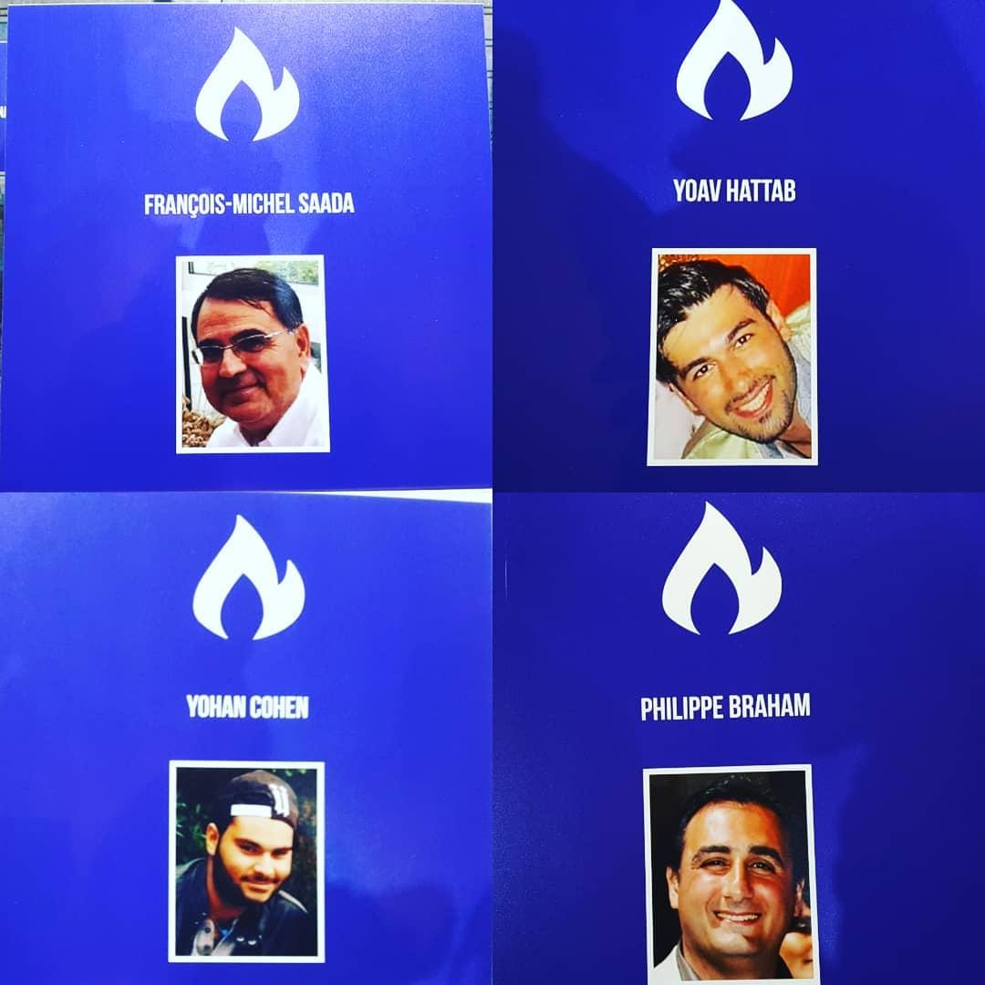 Hommage rendu hier soir aux 4 victimes de lattentat terroristehellip