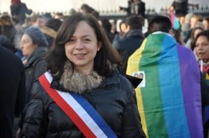 Manifestation pour le mariage pour tous, place de la Bastille.