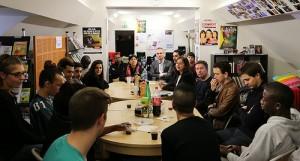 Echanges avec les responsables et jeunes du Refuge. Maison des Ensembles. Paris12e. Pierre-Clément Julien