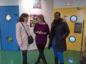 Visite de l'APATE avec Lunise Marquis et Pénélope Komitès