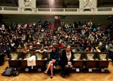 Dictée francophone en Sorbonne pour des écoliers de Paris
